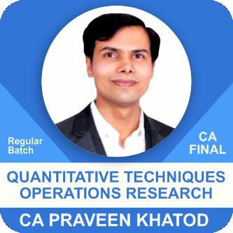 CA Final Quantitative Techniques ( O,R )