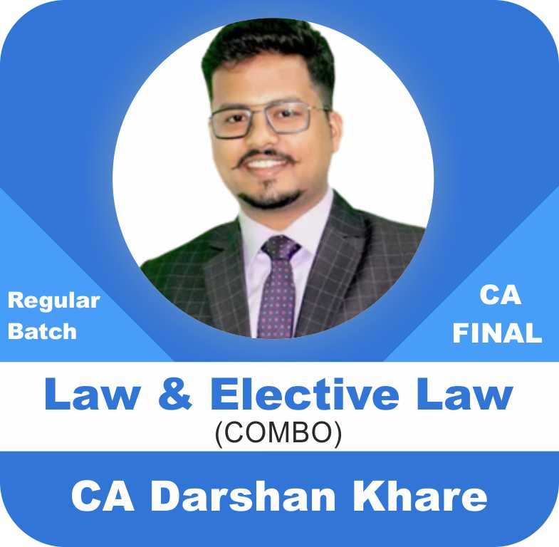 Law (Paper 4) Regular Batch along with Elective Law (Paper 6D) Combo