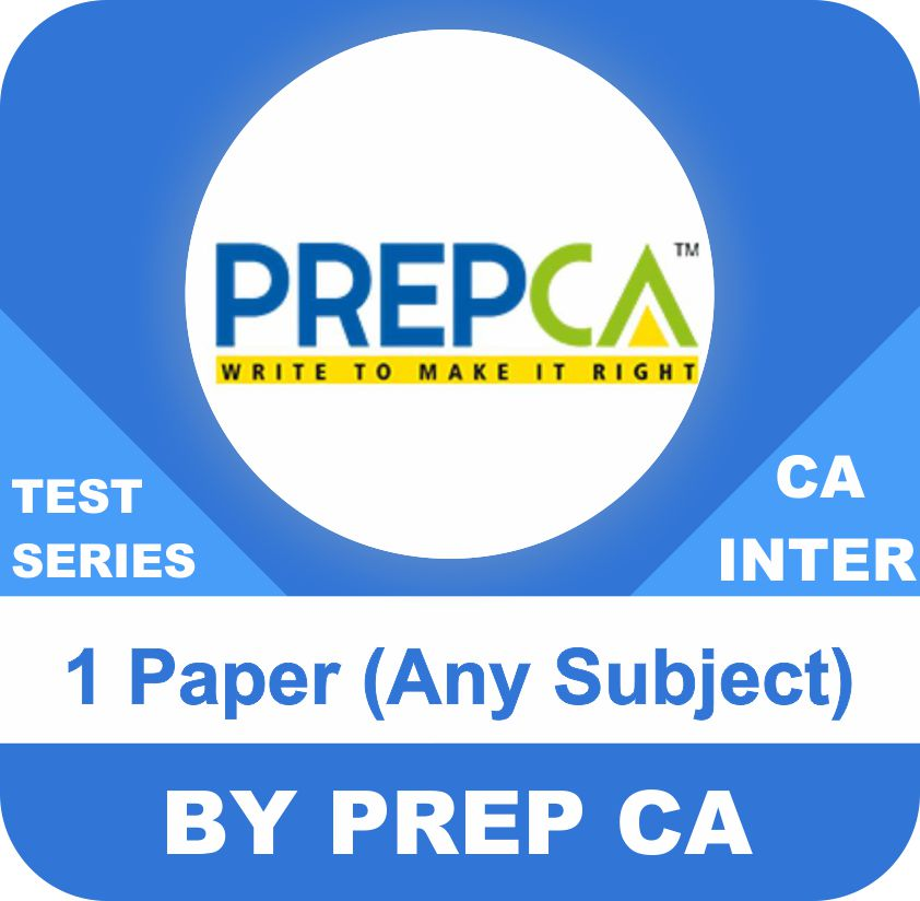 CA Foundation One Paper Any Subject Test Series in Standard Program by PREPCA