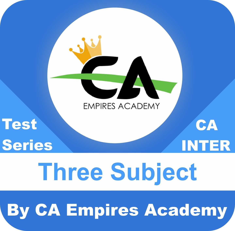 Any Three Subject Test Series in Diamond Plan