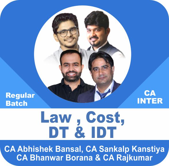 Law & Cost & Direct Tax & Indirect Tax Regular Batch Combo
