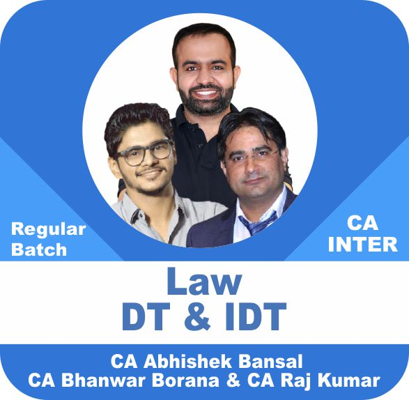 Law and Indirect Tax and Direct Tax Regular Batch Combo