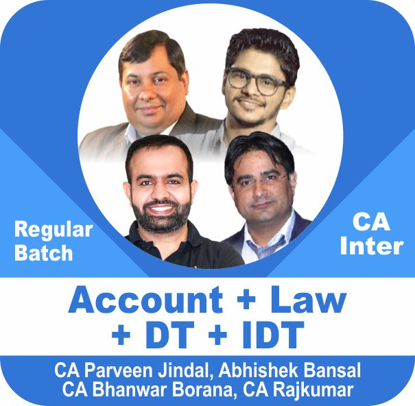 Account and Law and Direct Tax and Indirect Tax Regular Batch Combo