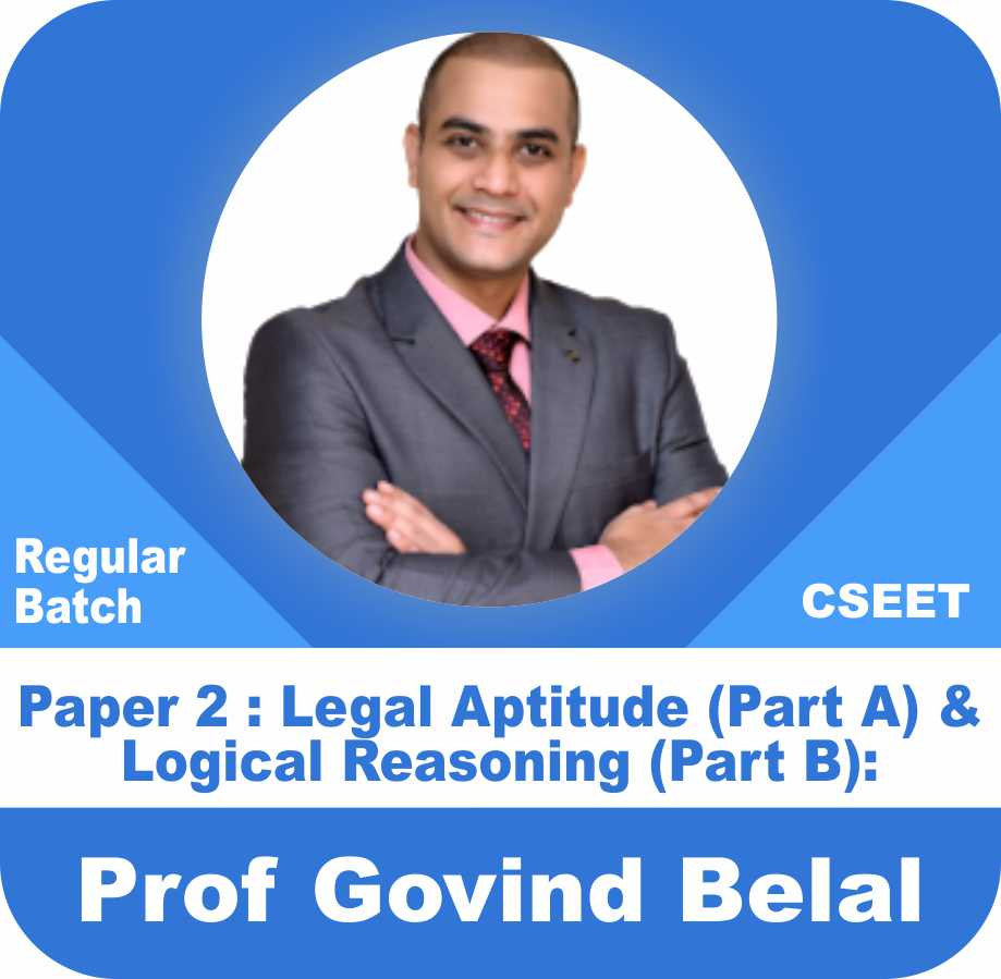 Legal Aptitude (Part A) & Logical Reasoning (Part B):