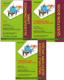 Combo Corporate Economic & Allied Laws (Main Book + Question Book + MCQs Book)
