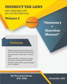 Indirect Taxes - Summary and Question Manual (2 Volumes)